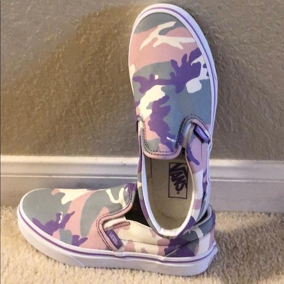 Vans Shoes | Nwob Pink Purple Gray Camo